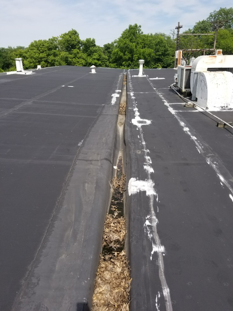 Large epdm roof. 350 square requires full tear off and new Durolast.