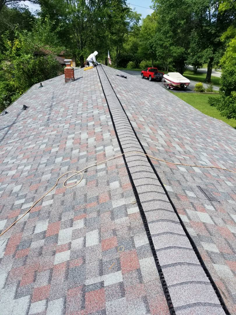 Marion, IN - New Owens-Corning Duration shingles Colonial Slate.