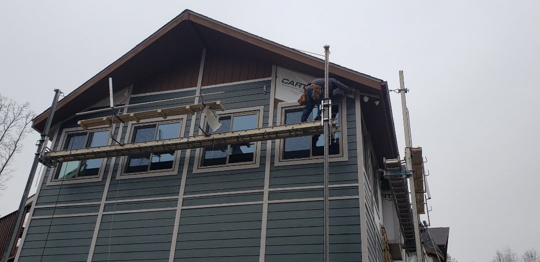 Marion, IN - Very excited about the progress on this James Hardie siding install. The crew is wrapping over 3000 feet of trim with Coild Stock. The amount of detail work required on this Hardie install is amazing. That craftsmanship from the Kingdom Crew does make the job. Good job guys! #KingdomCulture