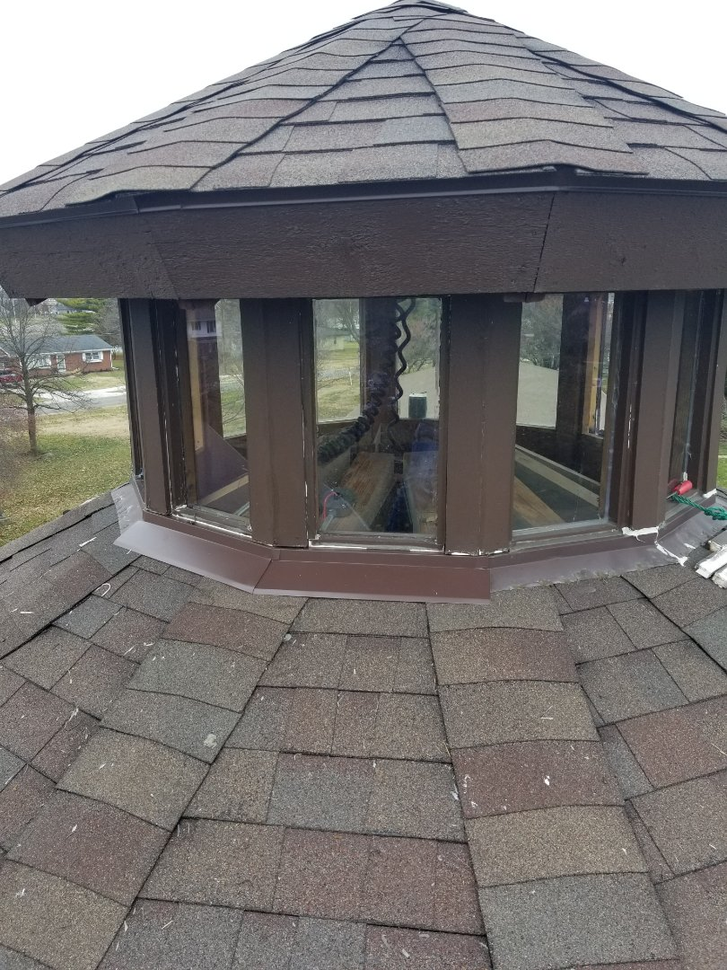 Marion, IN - We are re-doing a large rotunda that has been leaking for several years since the original install. We Are removing and re-installing 12 windows and reflashing whole rotunda.