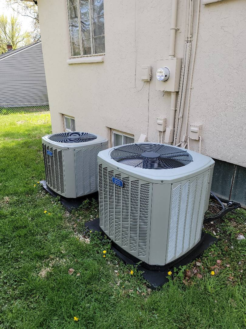 Kansas City, MO - AC Tune up on Two American Standard units. Check operating pressures and cleared drain lines.