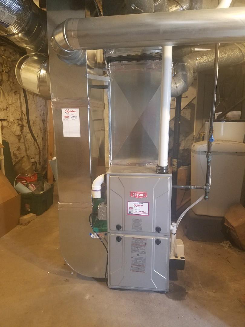 Union City, MI - High efficiency Bryant Furnace Install