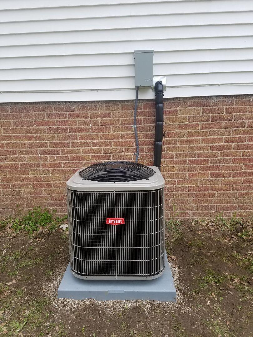 Battle Creek, MI - New Bryant air conditioning system installed