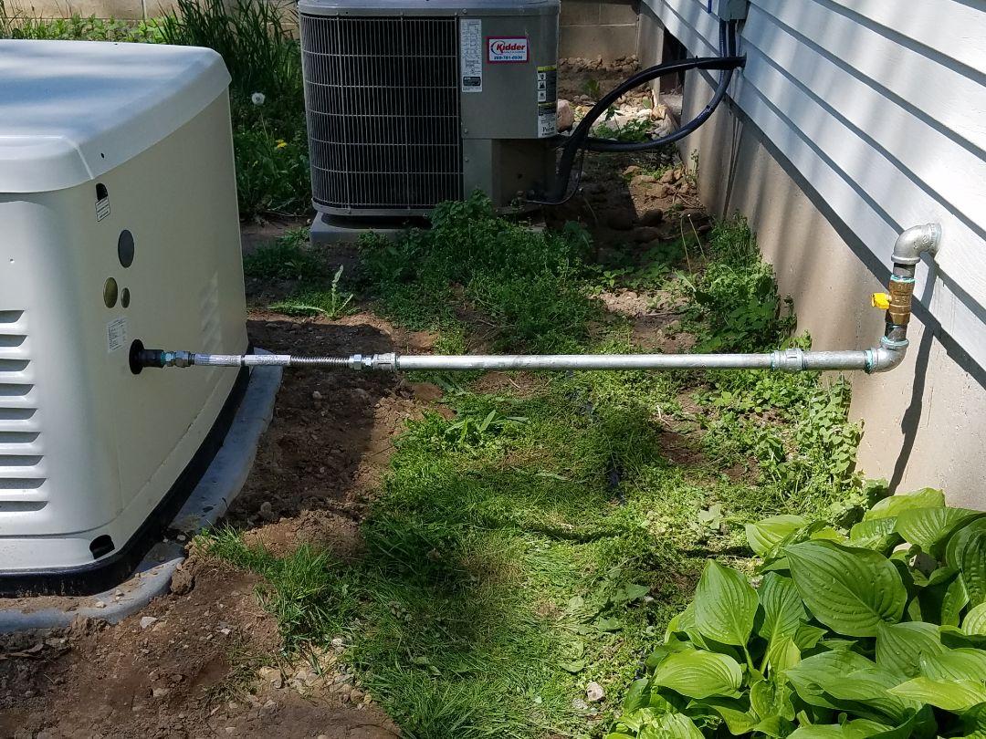 Marshall, MI - Running new gas pipe to generator