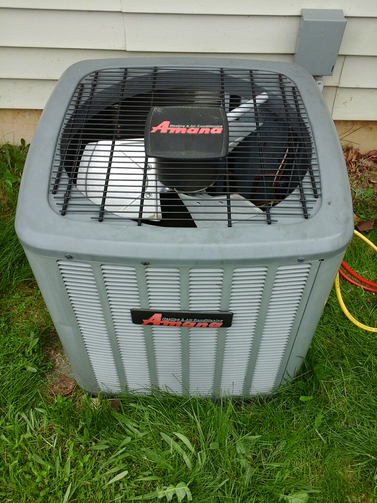 Concord, MI - Performed a precision tune-up on a Amana ASX air-conditioning unit with R- 410A refrigerant.