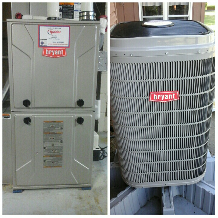 East Leroy, MI - Tune ups on a Bryant furnace and heat pump.