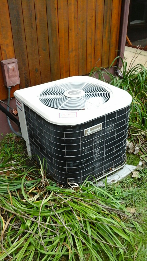 Burlington, MI - Performed a precision tune-up on a Amana RCB air conditioning unit with R - 22 refrigerant charge and replaced the 40 - amp, 2-pole contactor and 14 x 25 x1 media air filter.