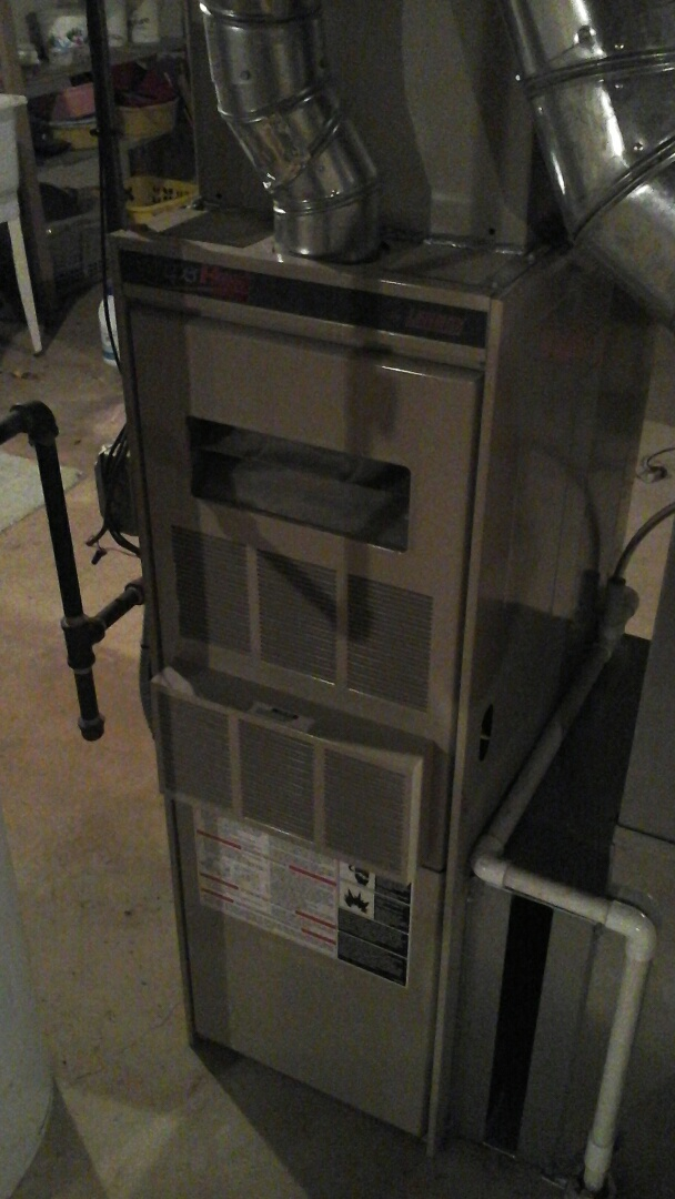 Burlington, MI - Performed a precision tune-up on a Lennox G26Q3 furnace with 75,000 btu/h output.