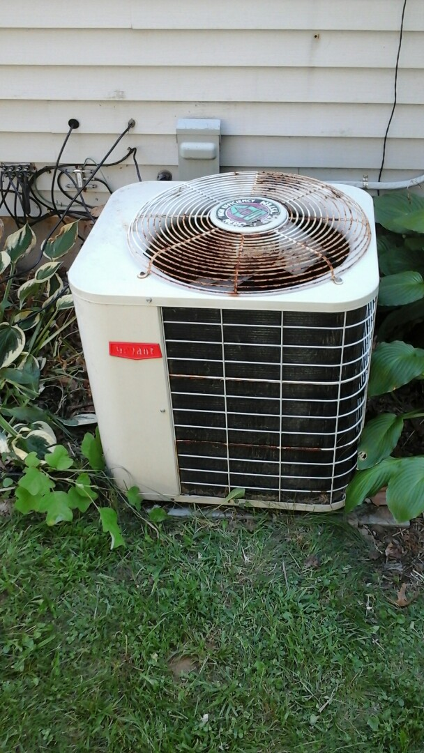 Ceresco, MI - Diagnosed and estimated system replacement for a Bryant air conditioning unit with R -22 refrigerant charge.