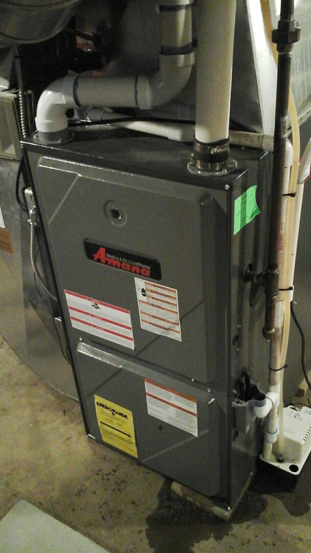 Olivet, MI - Performed a precision tune-up on a Amana up-flow furnace with a 16 x25x4 media air filter.