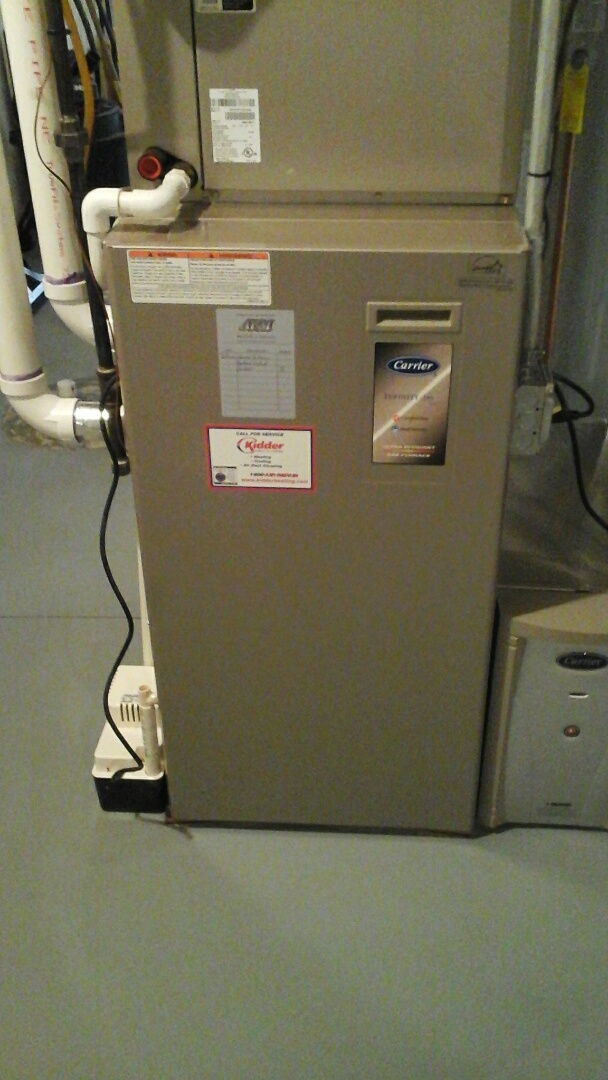 East Leroy, MI - Performed a precision tune-up on a Carrier furnace.