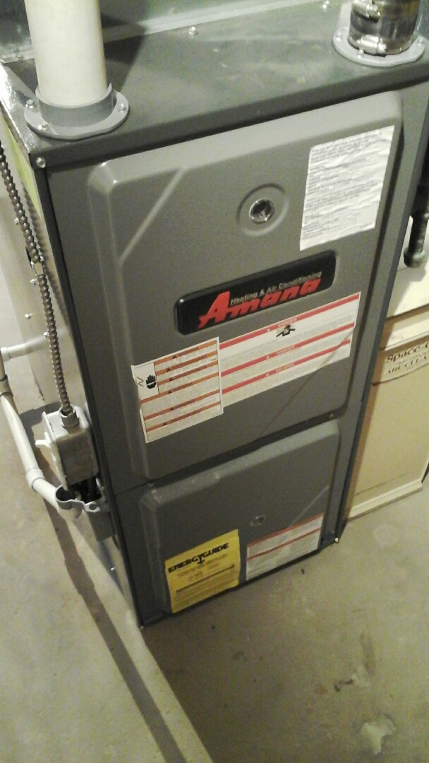 Burlington, MI - Performed a precision tune-up on a Amana AMH furnace.