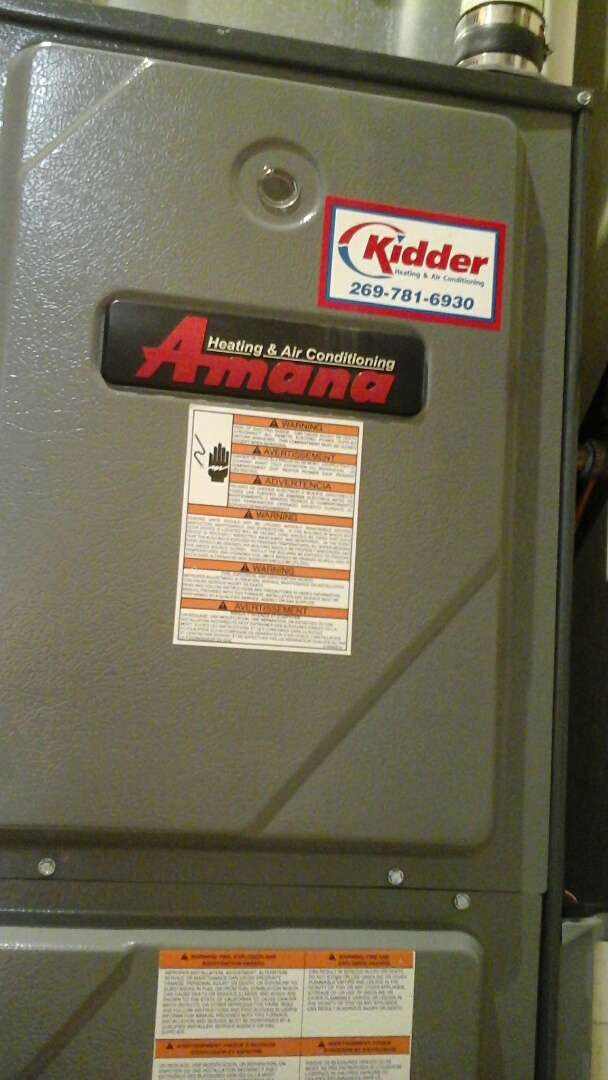 Bellevue, MI - Dirty flame sensor and filter on an Amana AMH