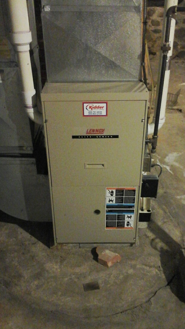 Albion, MI - Performed a precision tune-up on a Lennox G51MP 90% furnace.