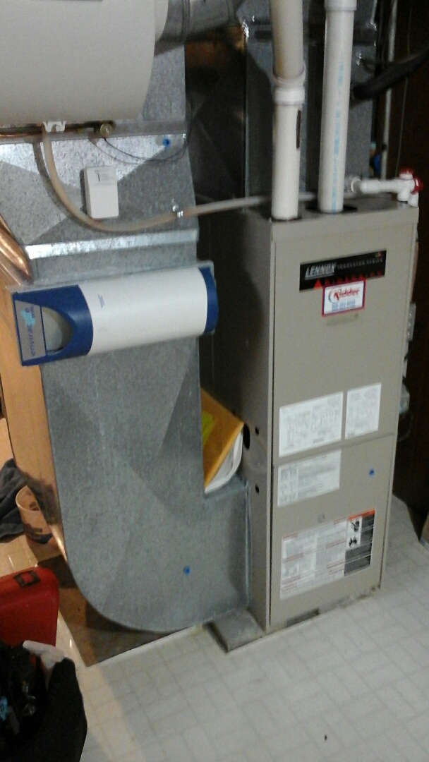 Albion, MI - Performed a precision tune-up on a Lennox G32 furnace and replaced the 16 x25 media air filter.