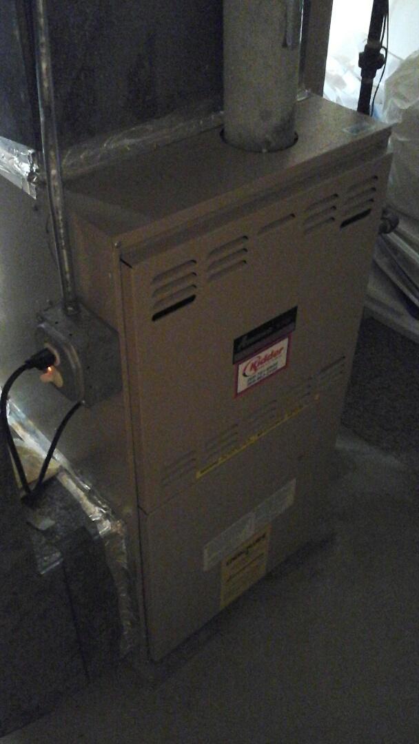 Bellevue, MI - Performed a precision tune-up on a Amana GUI 80% furnace.