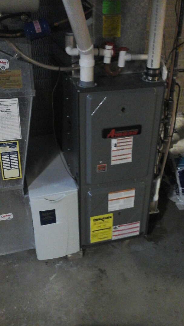 Homer, MI - Performed a precision tune-up on a Amana AMH 90% furnace.