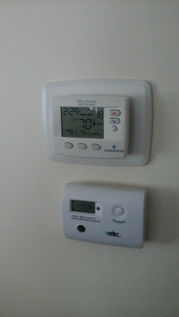 Olivet, MI - Install new thermostat and carbon monoxide alarm