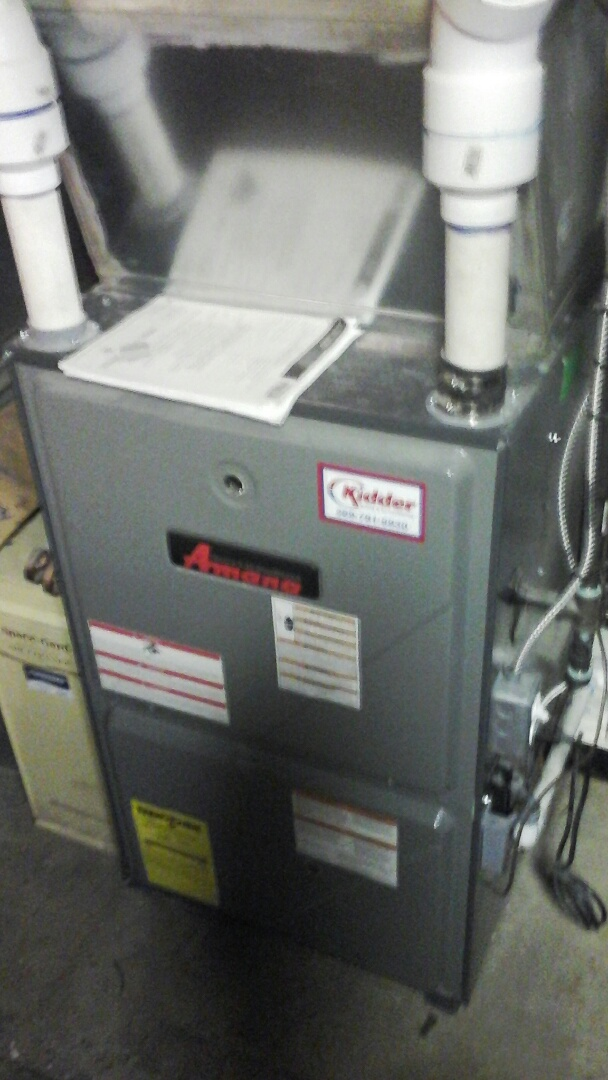 East Leroy, MI - Performed a precision tune-up on a Amana AMV, 90% furnace and replaced the 16 x25 x5 media air filter.