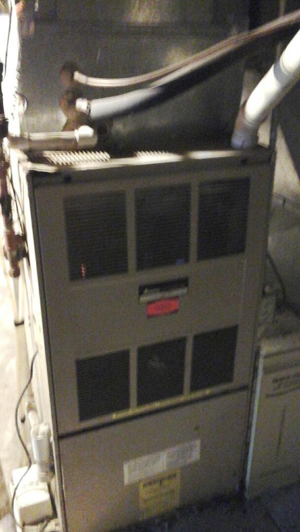 Bellevue, MI - Replaced circuit board on a Amana GUI, 90% furnace.