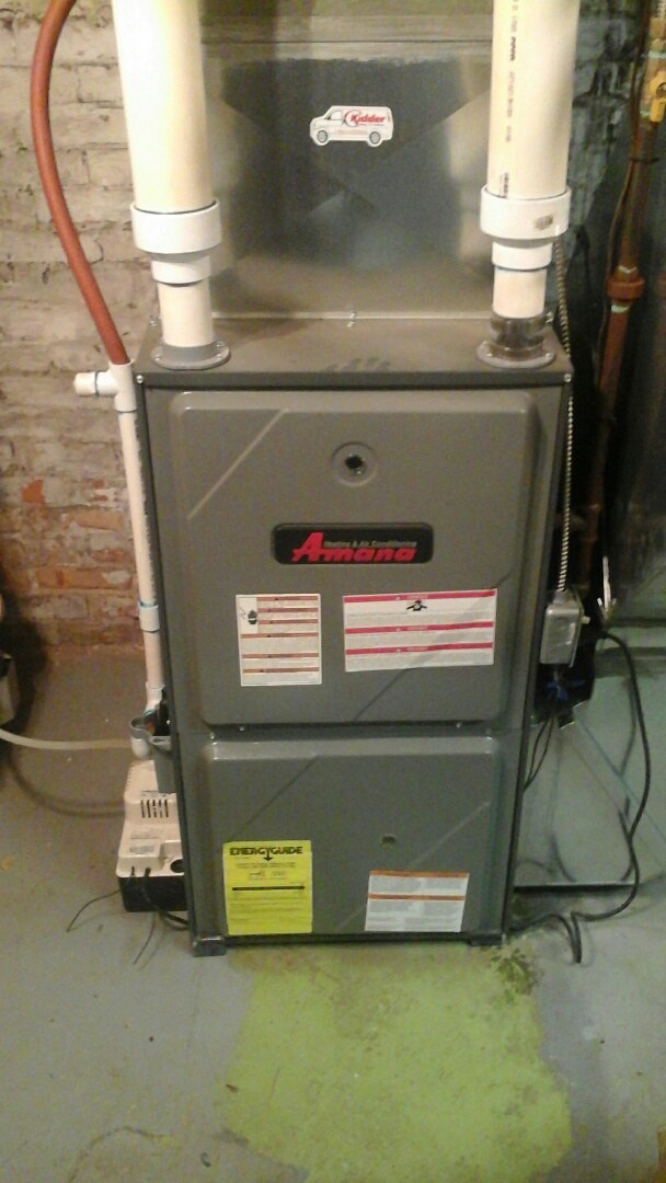 Tekonsha, MI - Performed a precision tune-up on a Amana AMH 90% furnace and replaced the 2400 model Aprilaire media air filter.