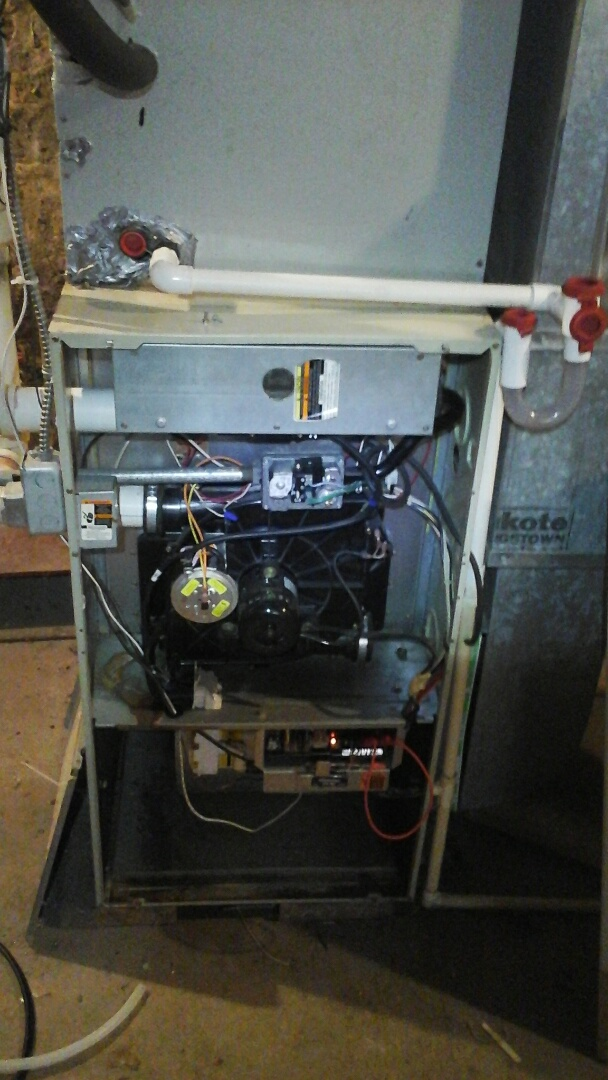 East Leroy, MI - Gas valve repair on older furnace