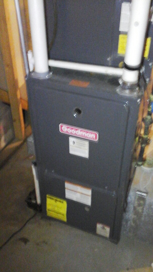 Burlington, MI - Performed a precision tune-up on a Goodman furnace.