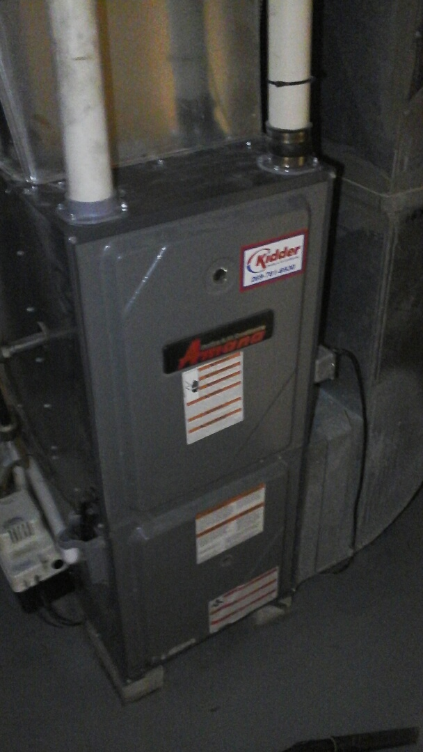 Olivet, MI - Performed a precision tune-up on a Amana AMV furnace and replaced the 2400 Aprilaire media air filter.