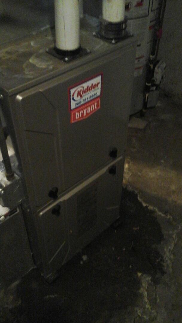 Bellevue, MI - Bryant furnace plugged drain repair