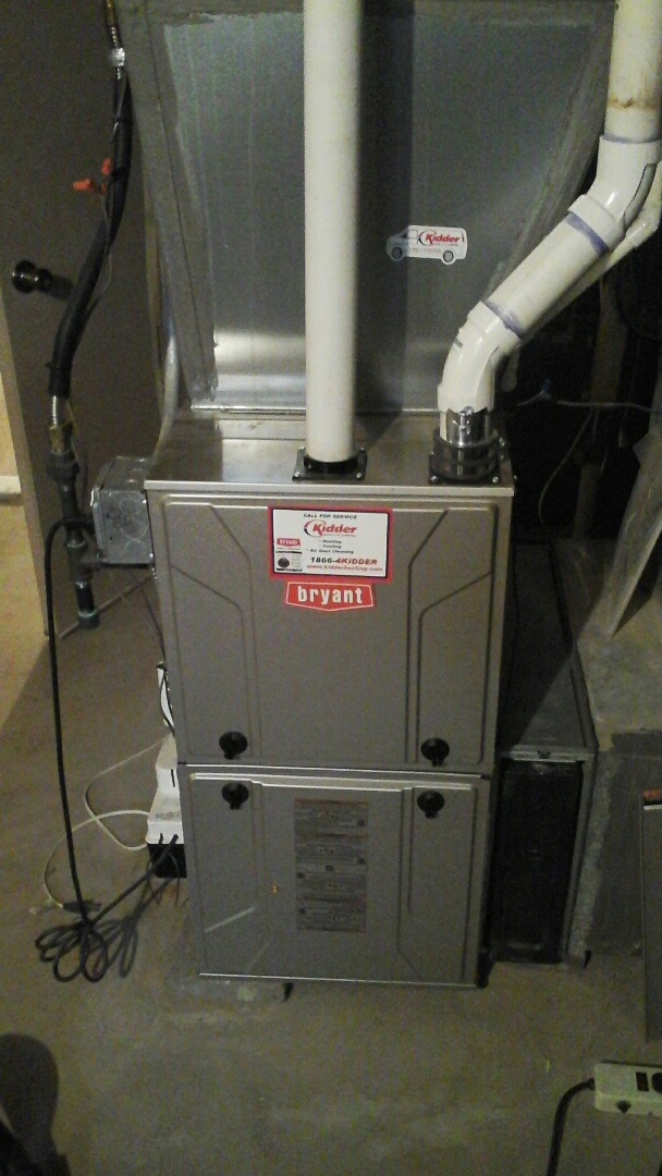 Marshall, MI - Yearly maintenance tune-up on a Bryant 925TA condensing furnace with a 16 � 25 � 4 ezflex media air filter and condensate pump.