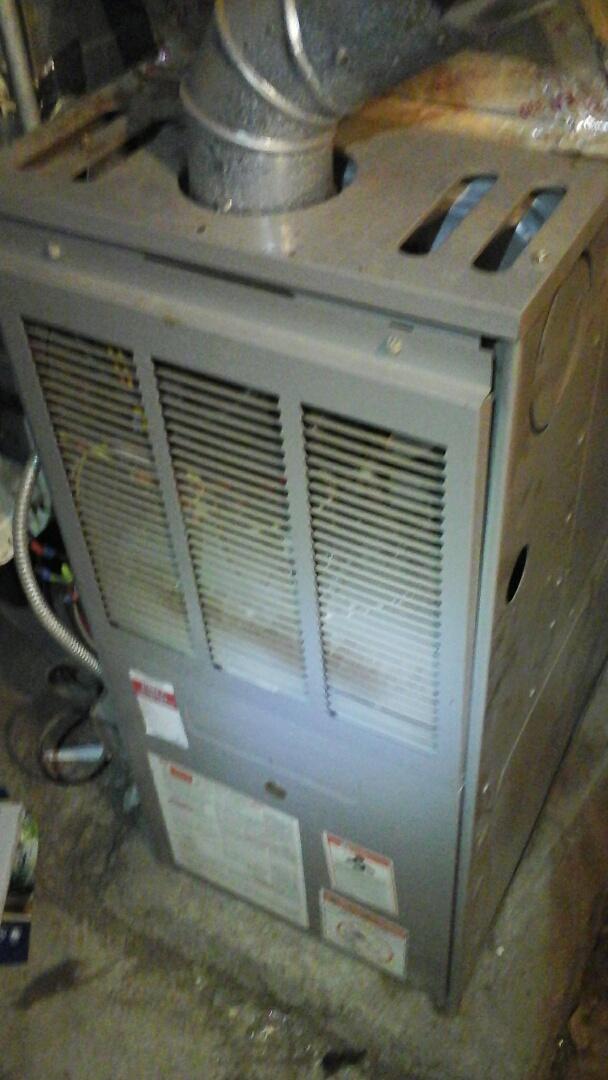 Battle Creek, MI - Carbon monoxide test on older furnace