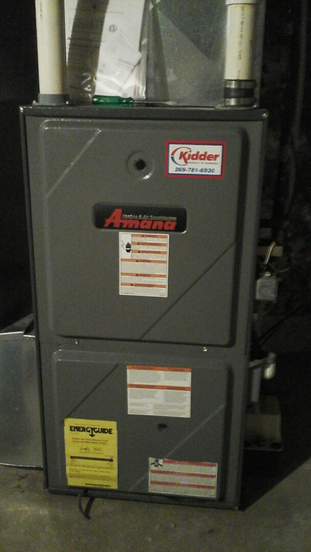 Augusta, MI - Gas valve replace.  Amana furnace