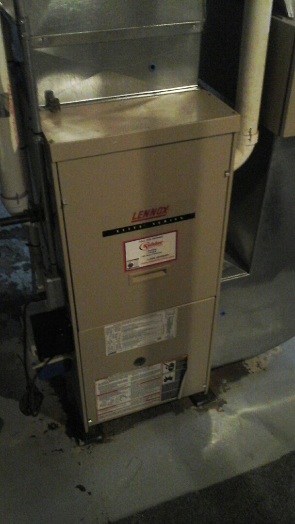 Battle Creek, MI - Yearly maintenance tune-up on a Lennox G61MPV, condensing furnace with a PMAC -12C media air filter.