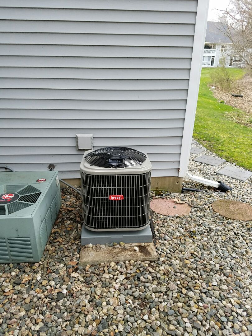 Marshall, MI - Install new 2 ton Bryant air conditioner
