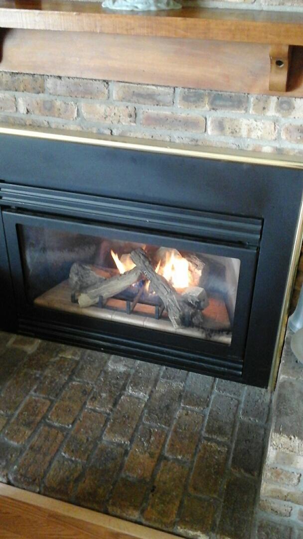 Albion, MI - Relight fireplace