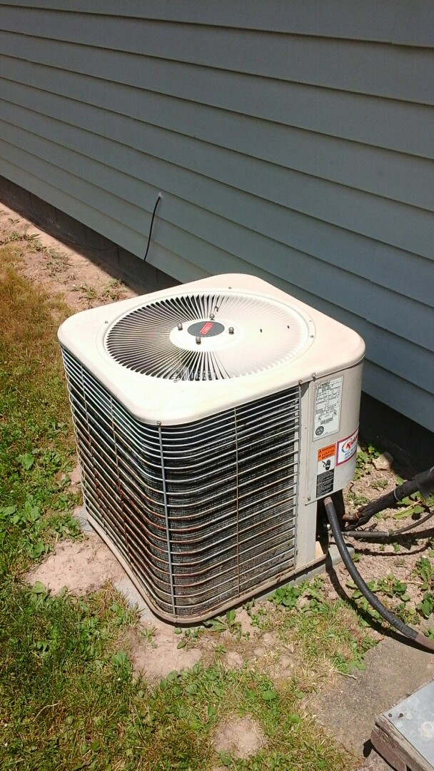 Olivet, MI - Yearly maintenance tune-up on a Lennox air-conditioning unit with R - 22 refrigerant charge and replaced the start capacitor device with Arma flex installation and a 16 � 25 � 4 media air filter.