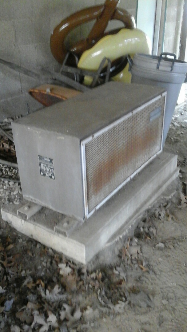 Battle Creek, MI - Yearly maintenance tune-up on a old Sears air-conditioning unit with R - 22 refrigerant charge and a 14 � 20 � 1 pleated air filter.