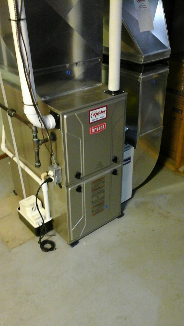 Marshall, MI - Yearly maintenance tune-up on a Bryant 925SA high-efficiency, condensing furnace with a 16 � 25 � 5 media air filter and condensate pump.