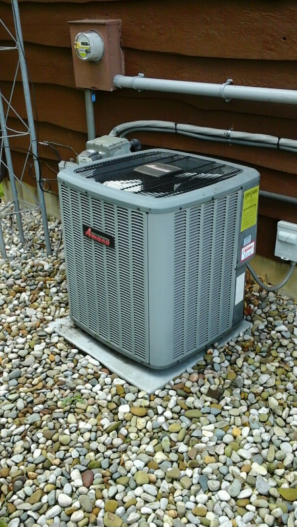 Marshall, MI - Performance of leak search on a Amana ASX air-conditioning unit with R410A refrigerant charge.