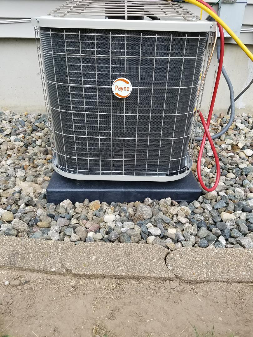 Bellevue, MI - Payne air conditioner install