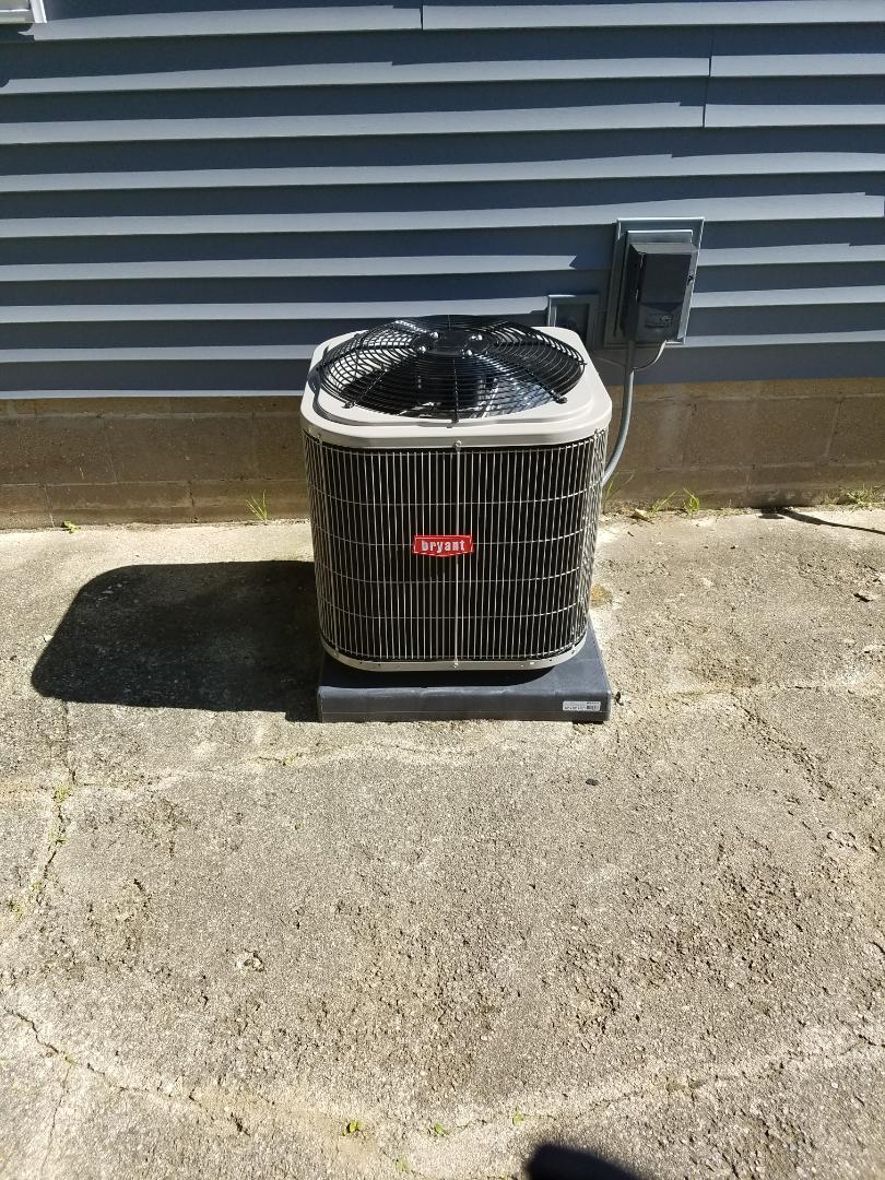 Bellevue, MI - New air conditioner install