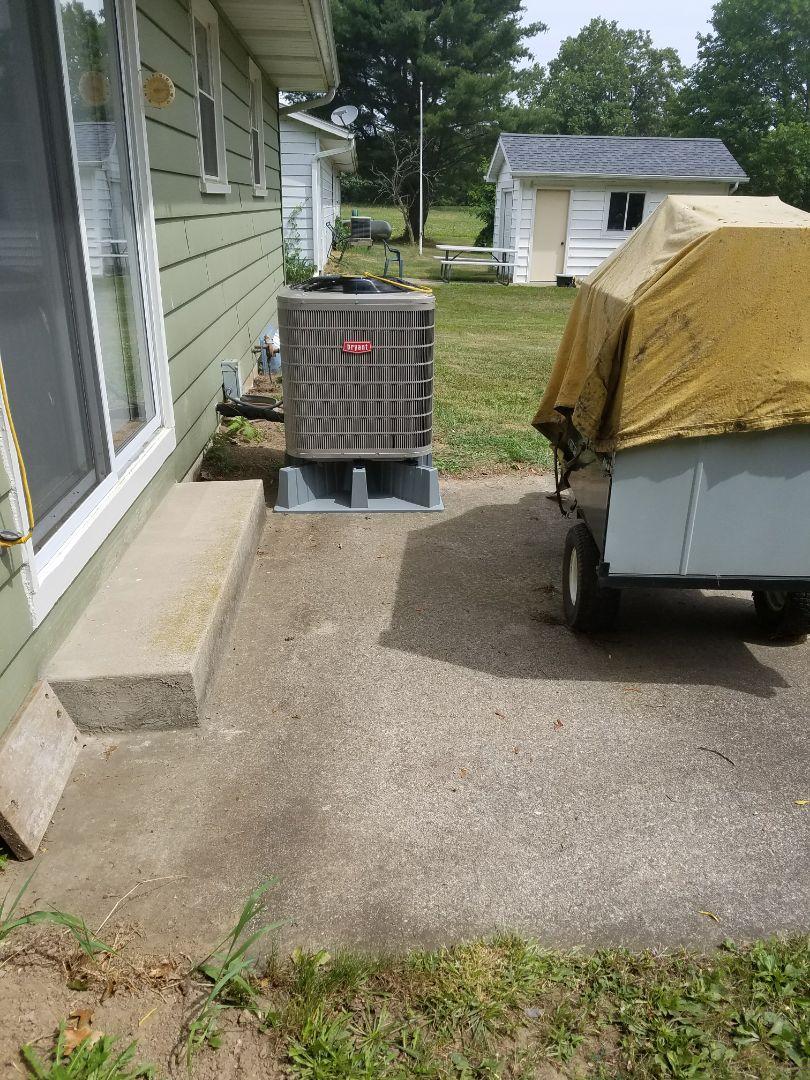 Bellevue, MI - New Bryant air conditioner install