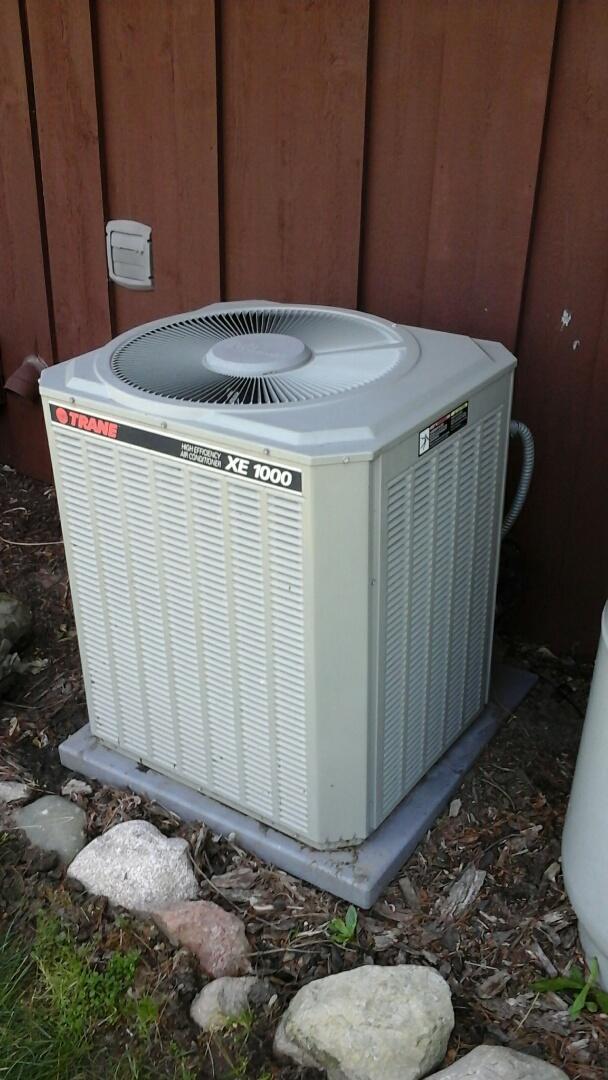 Bellevue, MI - Trane air conditioning system frozen
