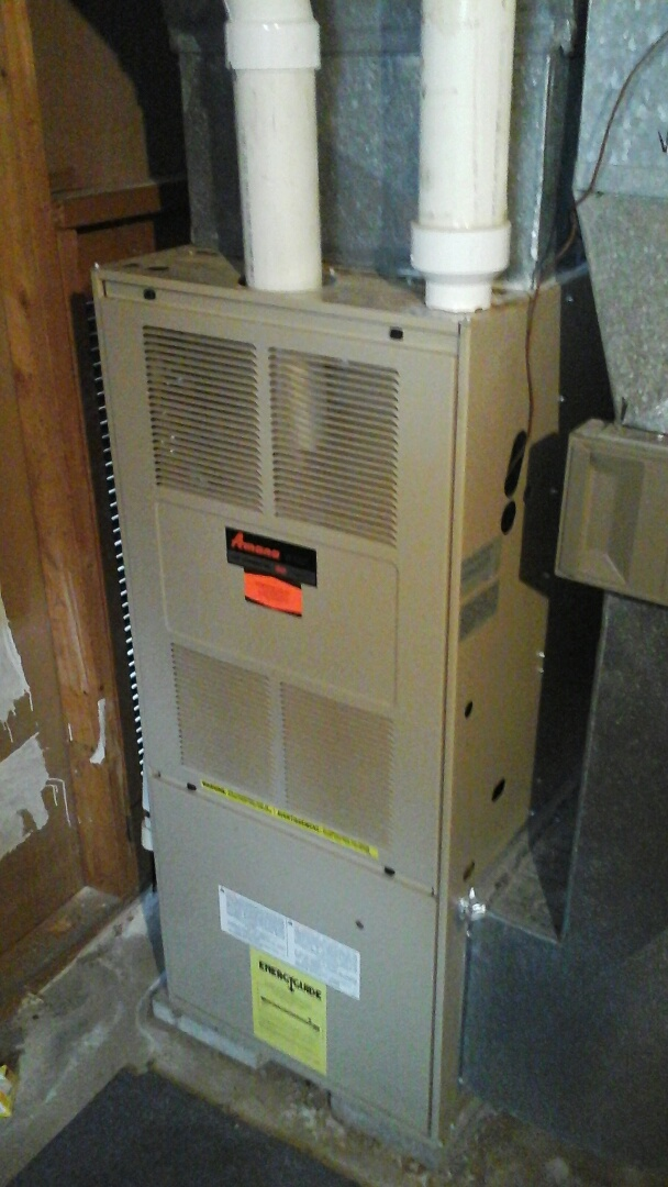 Bellevue, MI - Yearly maintenance tune-up on a Comfort maker furnace with a 16 � 25 � 1 pleated air filter.