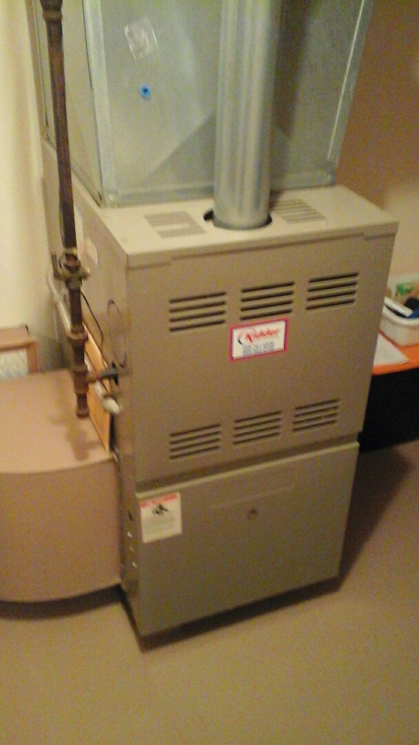 Albion, MI - Yearly maintenance tune-up on a Amana GUI furnace with a 16 � 25 � 1 pleated air filter.
