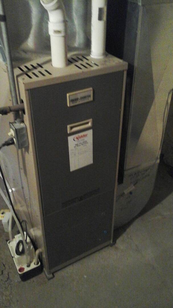 Union City, MI - Yearly maintenance tune-up on a Fraser-Johnson, 90% efficient, condensing furnace with a 16 � 25 � 1 pleated air filter and bypass humidifier with a condensate pump.