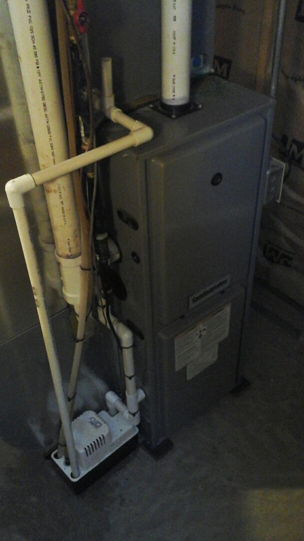 East Leroy, MI - Yearly maintenance tune-up on a Comfort maker furnace with a 16 � 20 � 1 pleated air filter.