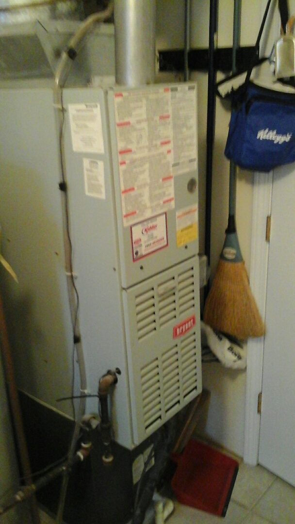 Olivet, MI - Replacing the indoor blower motor and start capacitor on a 80% efficient Bryant furnace.