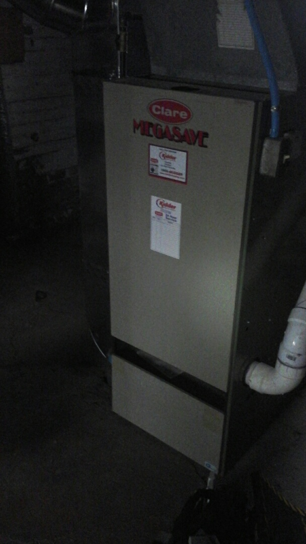 Albion, MI - Emergency replacement of the hot surface ignitor on a 90% Clare furnace.