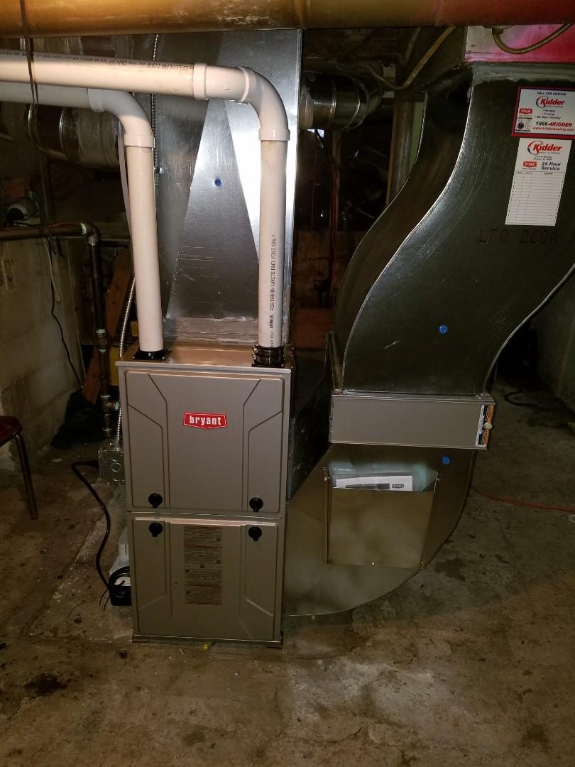 Bellevue, MI - New Bryant furnace install